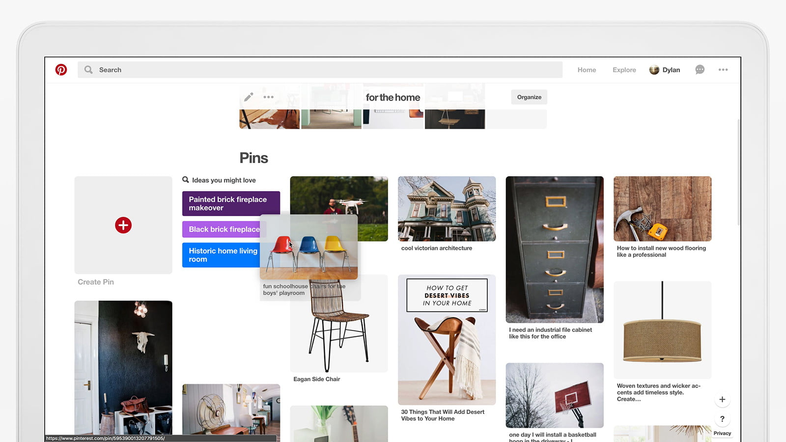 pinterest update organize andarchive boards rearranging pins on web still
