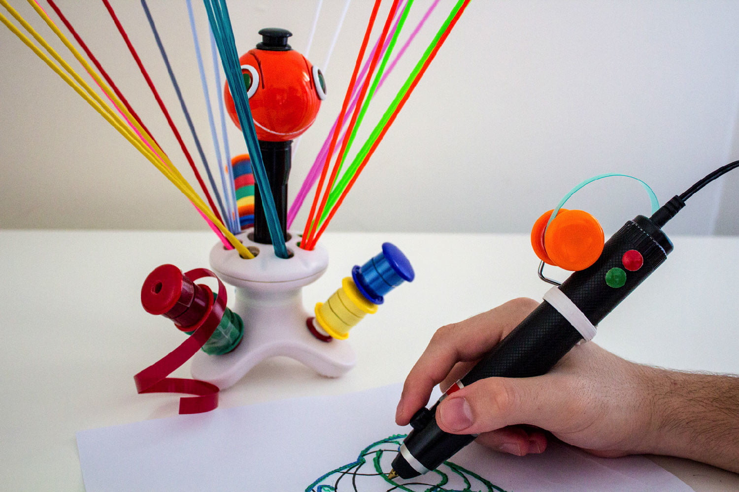 awesome tech you cant buy yet zafirro renegade cyclotron  waste plastic 3d printing pen