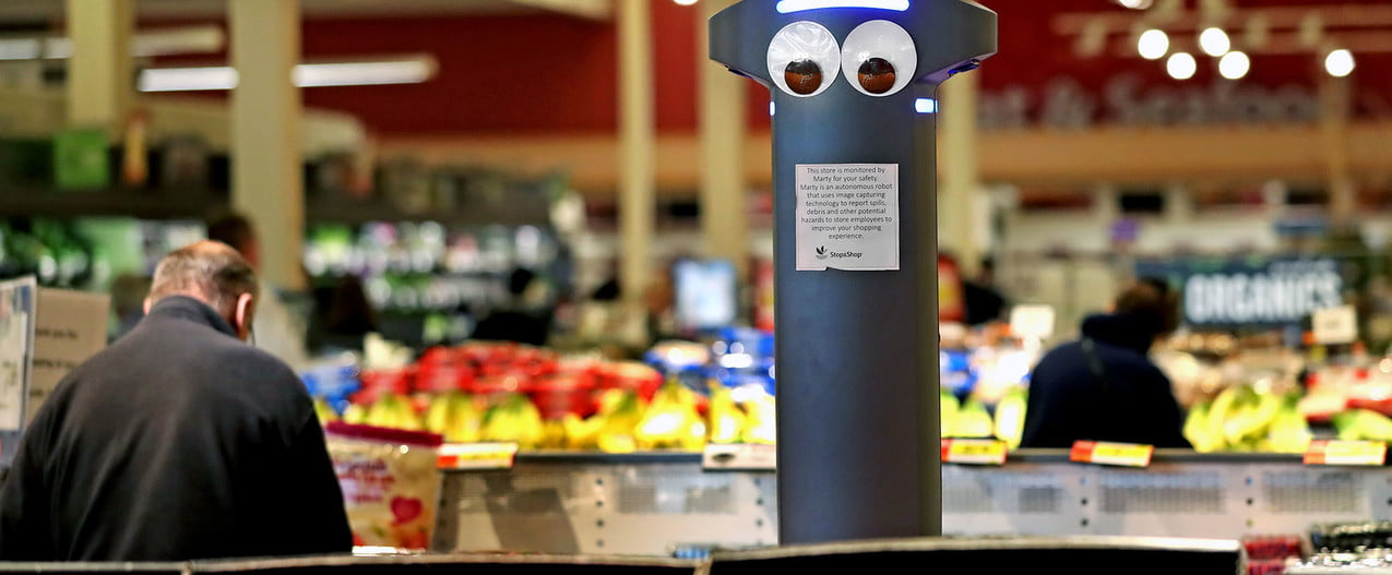 Marty the Grocery Store Robot