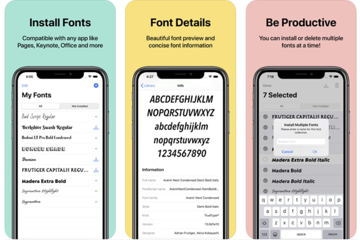 RightFont font app for iOS.