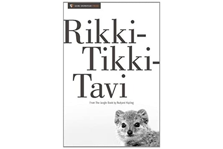 Picture is of the book cover which features the title in large black font on a white background, with the author's name in a smaller font underneath. There's also a picture of a weasel in black and white to the bottom right corner