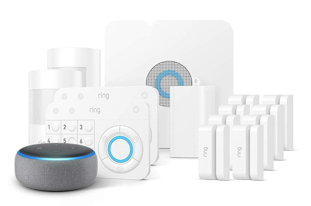 amazon slashes prices on ring alarm systems and throws in a free echo dot 14 piece kit  1