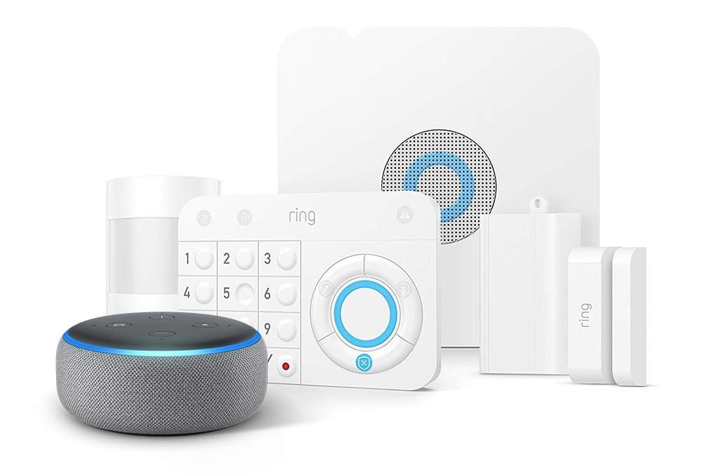 amazon slashes prices on ring alarm systems and throws in a free echo dot 5 piece kit  1