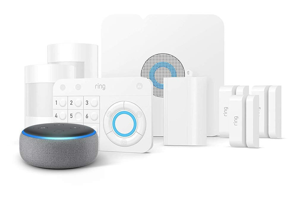 amazon slashes prices on ring alarm systems and throws in a free echo dot 8 piece kit  1