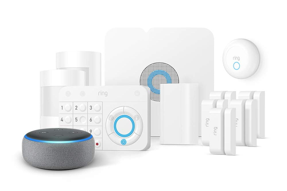 amazon slashes prices on ring alarm systems and throws in a free echo dot smoke  co kit 1