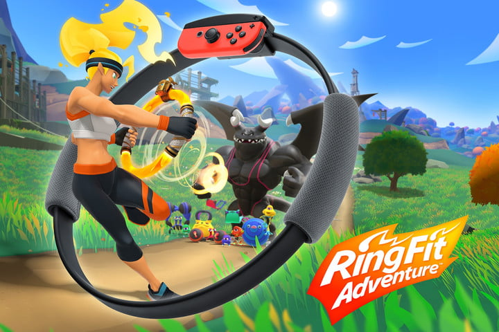 Cover art for Ring Fit Adventure for Nintendo Switch.