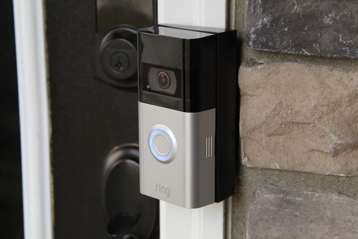 Ring Video Doorbell installed on a home.