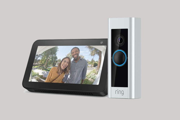 View of Ring camera feed on Echo show.