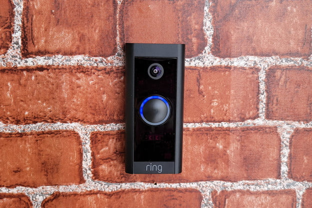 Ring Video Doorbell Wired mounted on Brick
