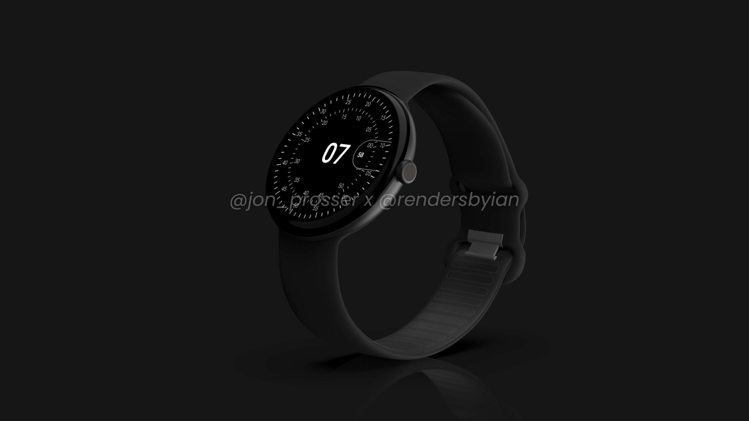 google pixel watch leaked images rohan band black