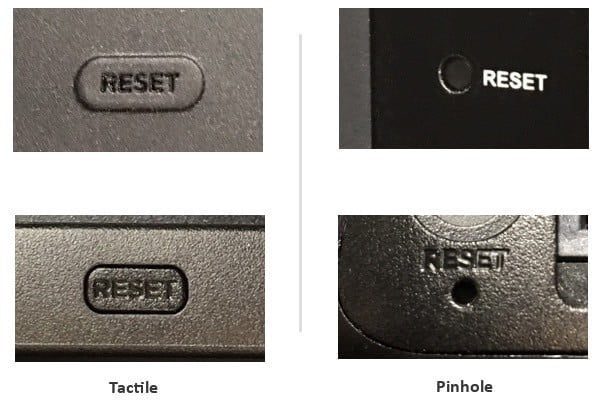The four kinds of Roku factory reset buttons