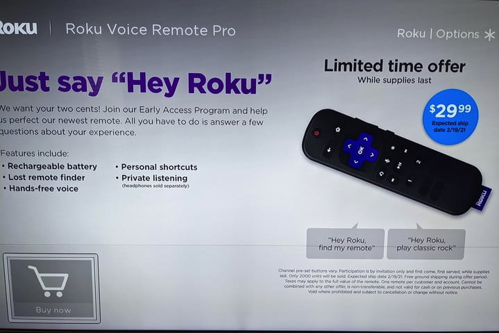 Evidence for a possible Roku Voice Remote Pro posted to Reddit