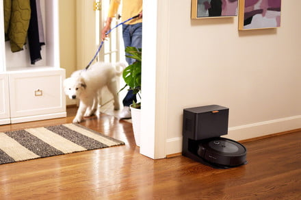 The iRobot Roomba j7+ monitors your floors to avoid wires, pet droppings