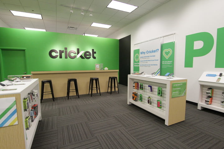 Interior of a Cricket wireless retail space.