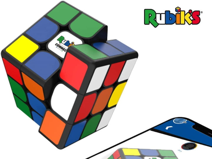 An unsolved Rubik's Connected Cube.