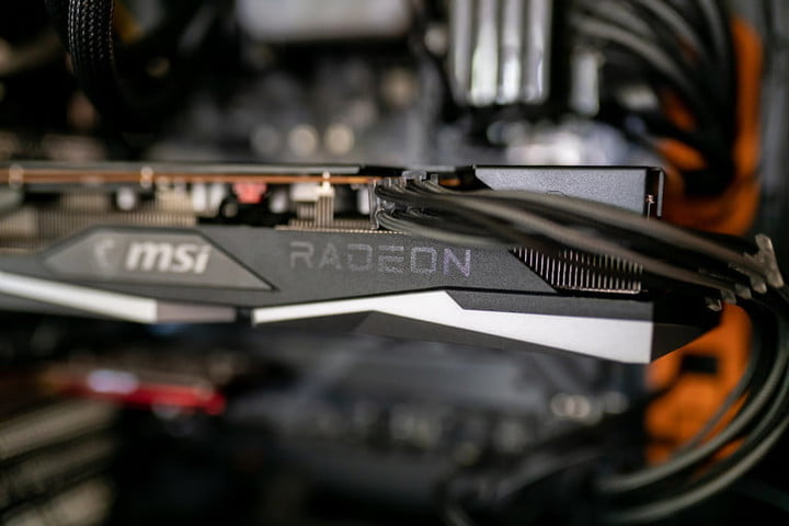 AMD RX 6600 XT installed in a computer.