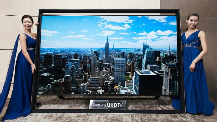 samsung busts 110 inch 4k tv available 150000 ultra hd straight