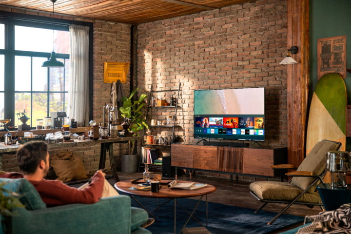 The Samsung 70-inch Class 7 Series 4K TV in a living room.