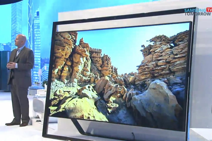 samsung shows off massive 98 inch ultra hd tv teases oled s9 scaled