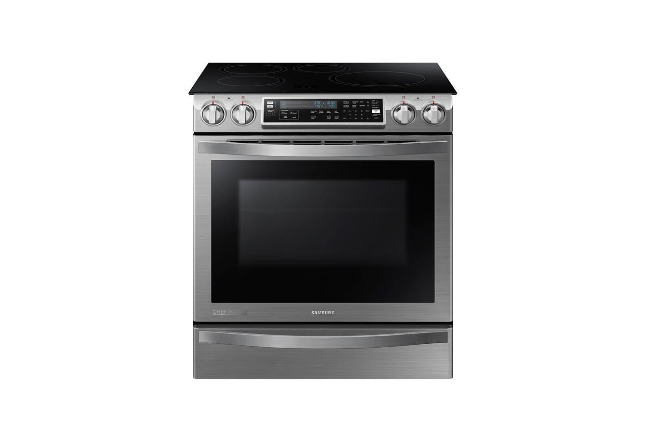 samsungs home appliances at ces 2015 samsung chef collection slide in induction range with virtual flame technology  image 2