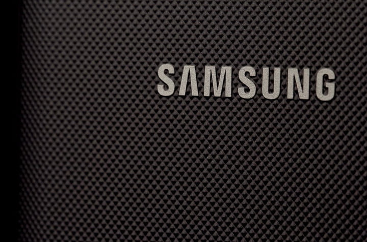 Samsung Galaxy Rugby Pro Review logo closeup