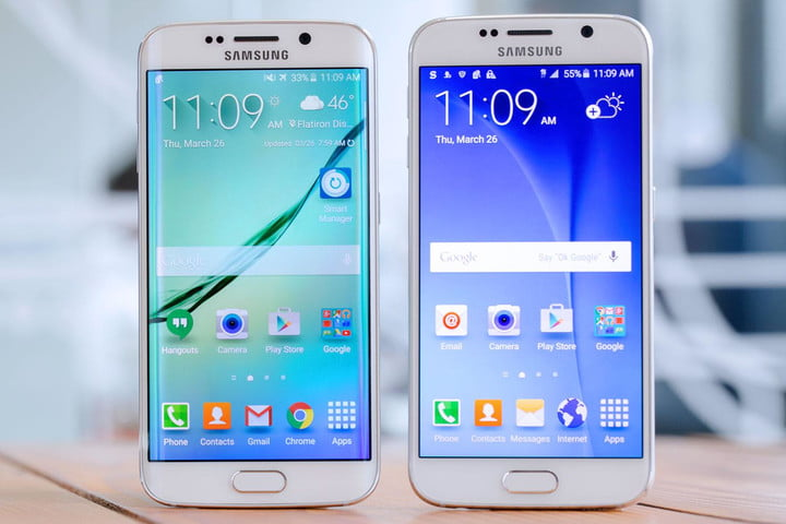 Samsung Galaxy S6 Edge side by side S6