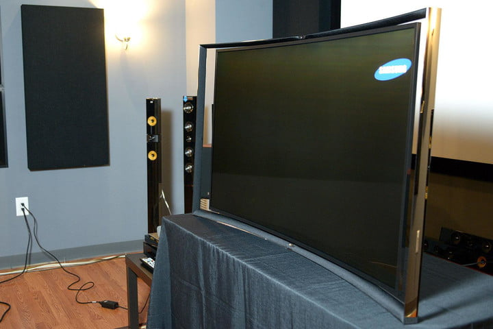 Samsung KN55S9C OLED TV front right angle