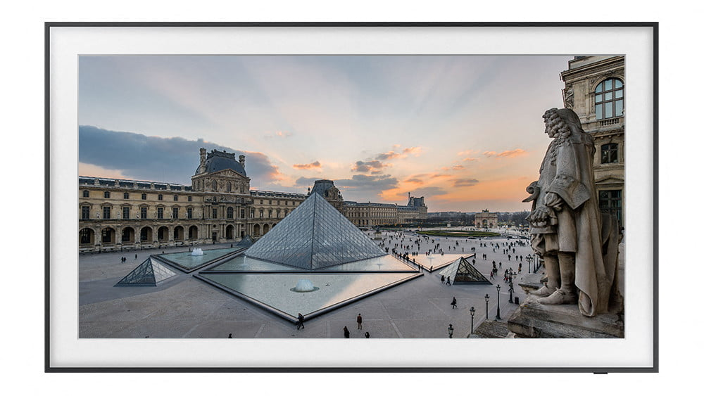 Samsung's The Frame TV displaying art from the Louvre.