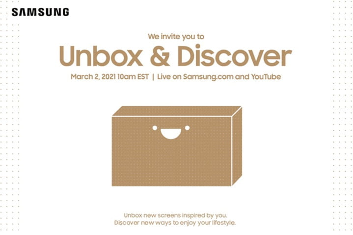 Samsung Unbox and Discover Event invitation