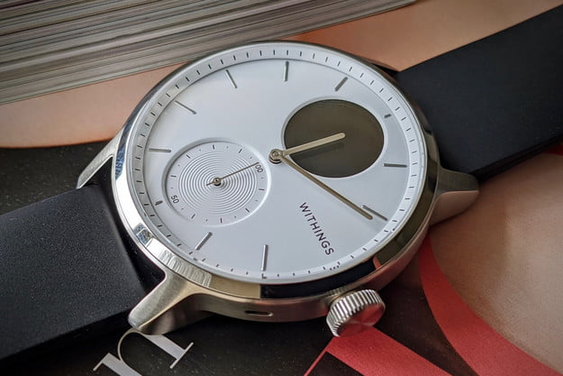 withings scanwatch review face close