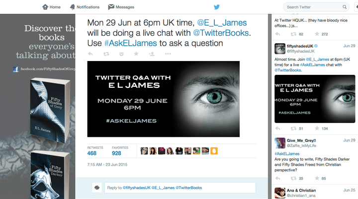 e l james disastrous twitter screen shot 2015 06 30 at 10 23 50 pm