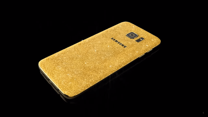 galaxy s7 gold plate