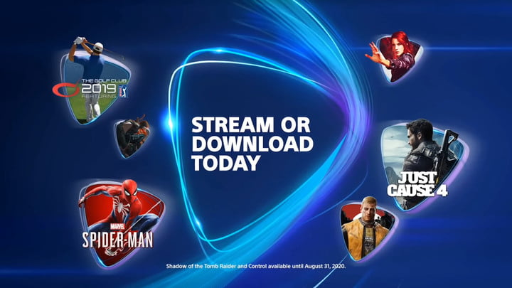 Various games you can download or stream on PS Now.