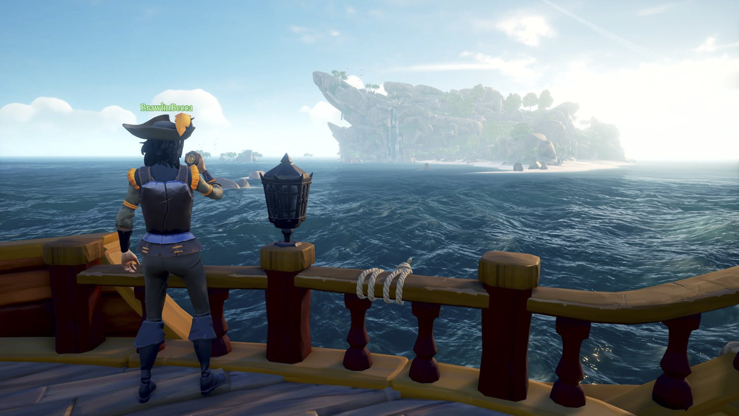 Sea Of Thieves   Spying an island form the ship