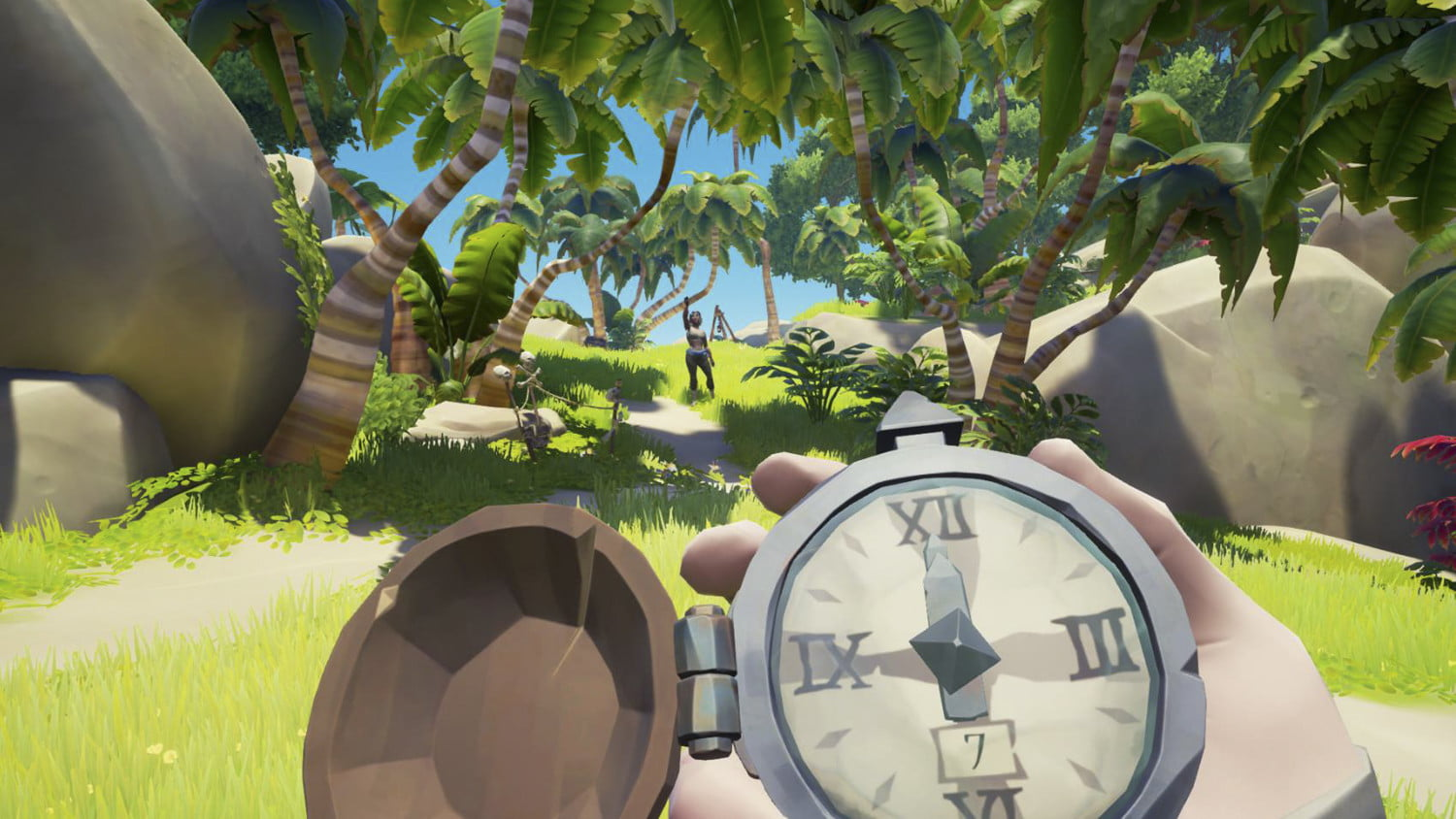 Sea Of Thieves Hands-on Preview   Using a compass on the island