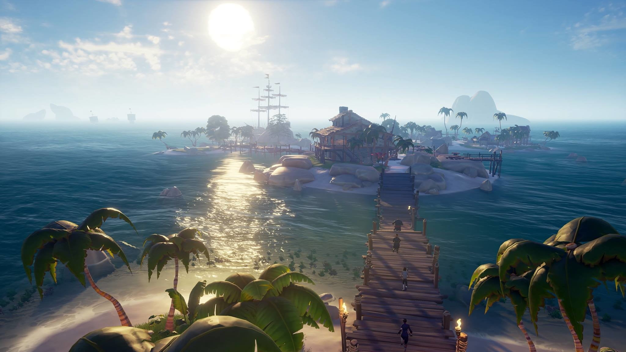 Sea Of Thieves   Island with people