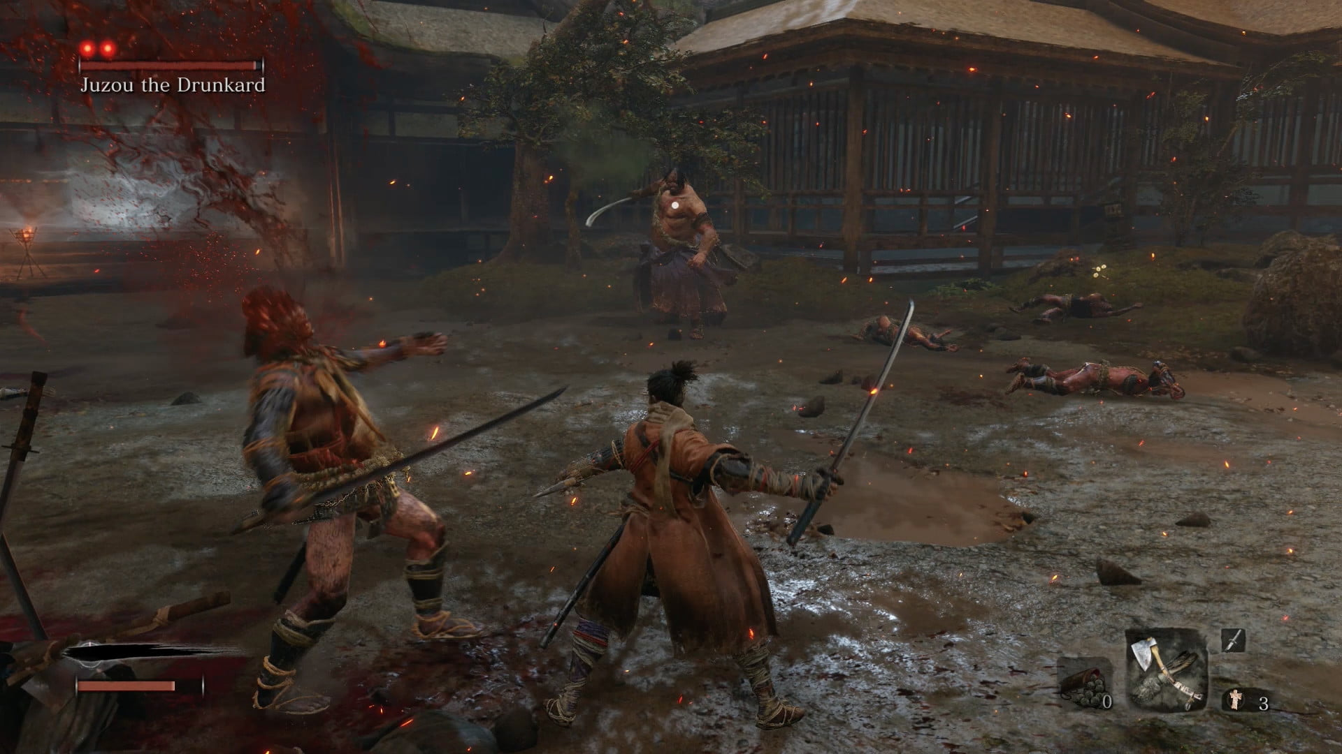 Clear out regular enemies first   How to beat Jouzou The Drunkard in Sekiro: Shadows Die Twice