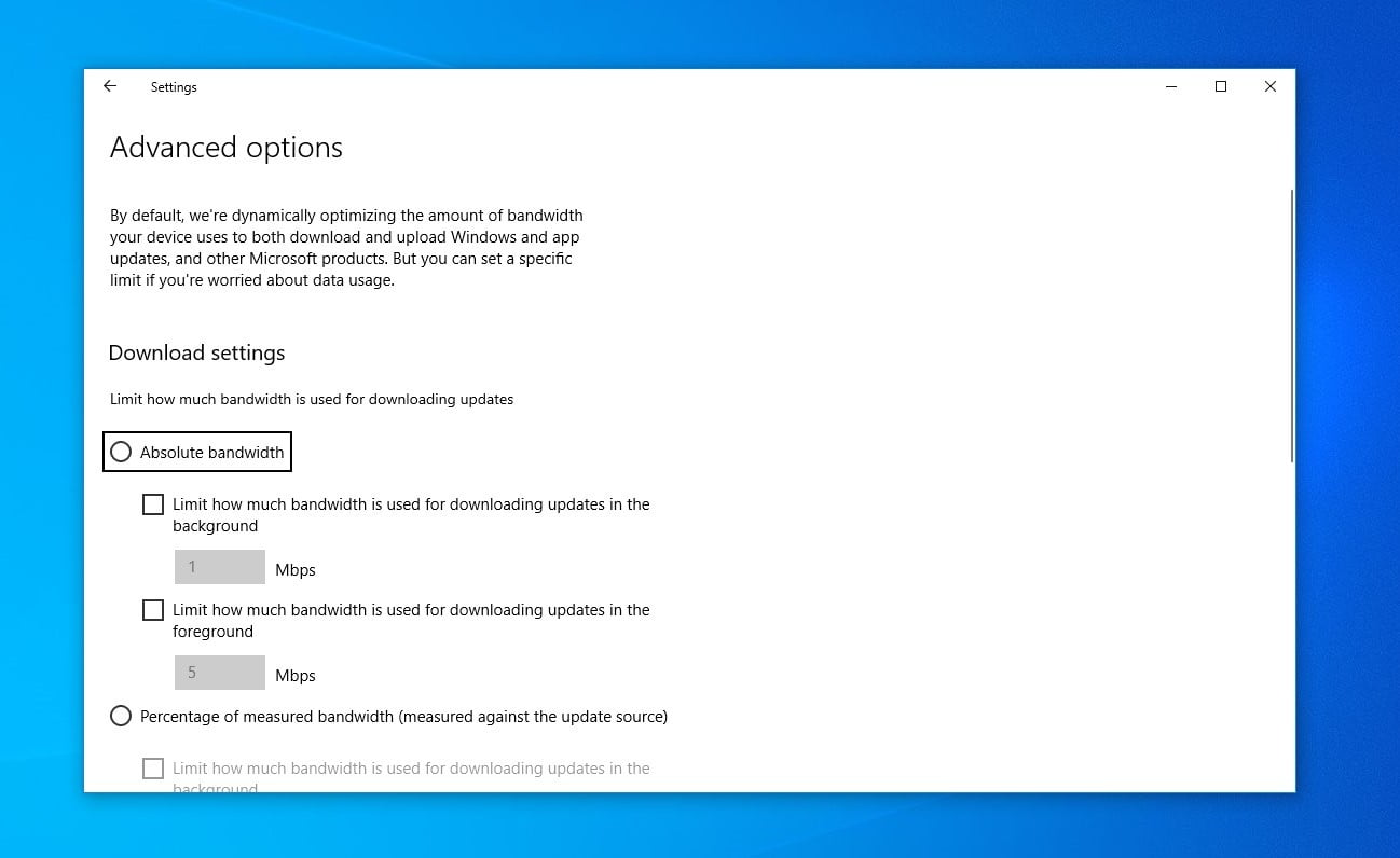 windows 10 may 2020 update review settings 20h1 3
