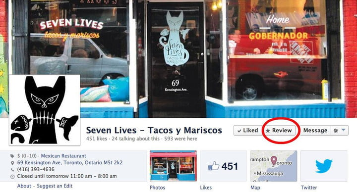 is facebook trying to dethrone yelp seven lives