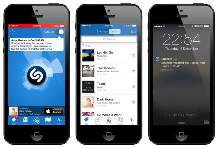 shazam update gives iphone users a new always on option auto