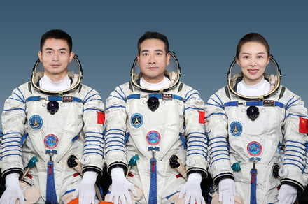 Chinese crew launches to new space station — including station's first woman
