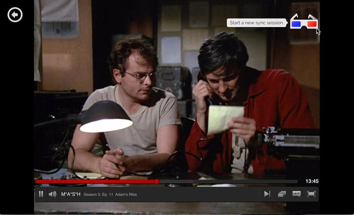 showgoers netflix syncing chrome extension mash click glasses