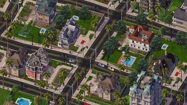 Residential area in SimCity 4.
