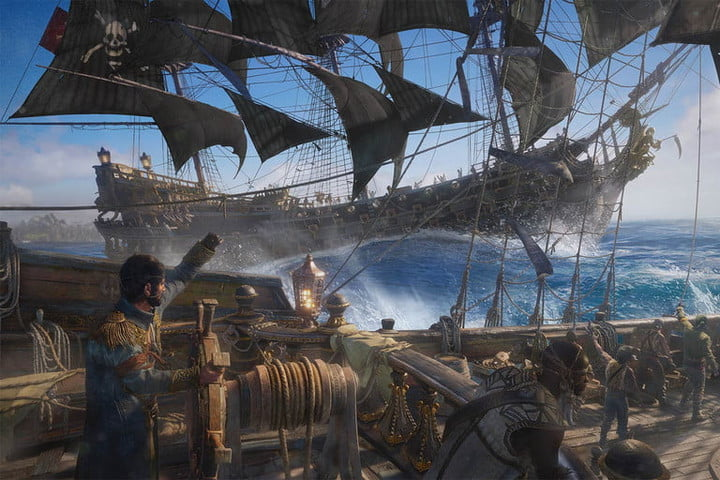 A shipmate lets out a war cry in Skull & Bones.