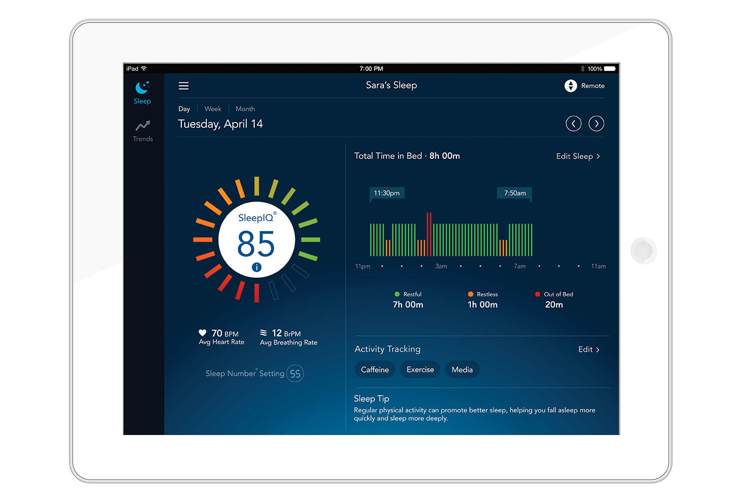 sleep number introduces the it bed at ces 2016 ipad adultdaily 1505 01