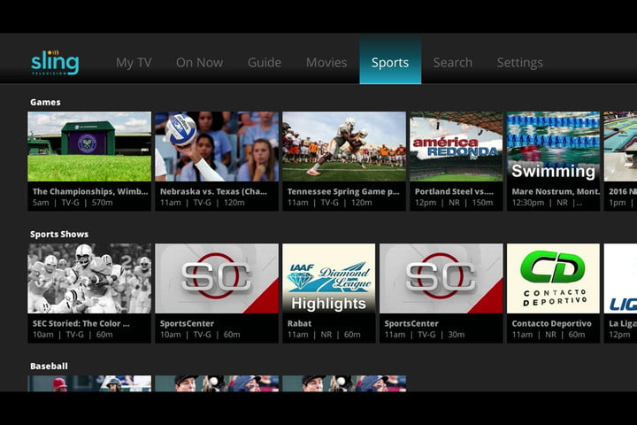 Sling TV, the best live TV streaming services