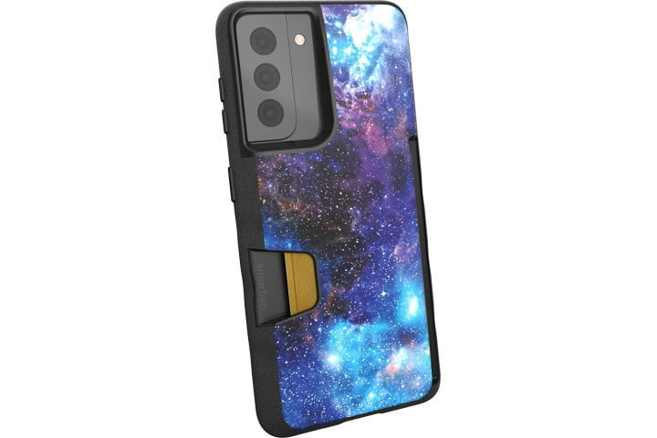 Smartish Wallet Slayer Case for Samsung Galaxy S21 in a galaxy print.