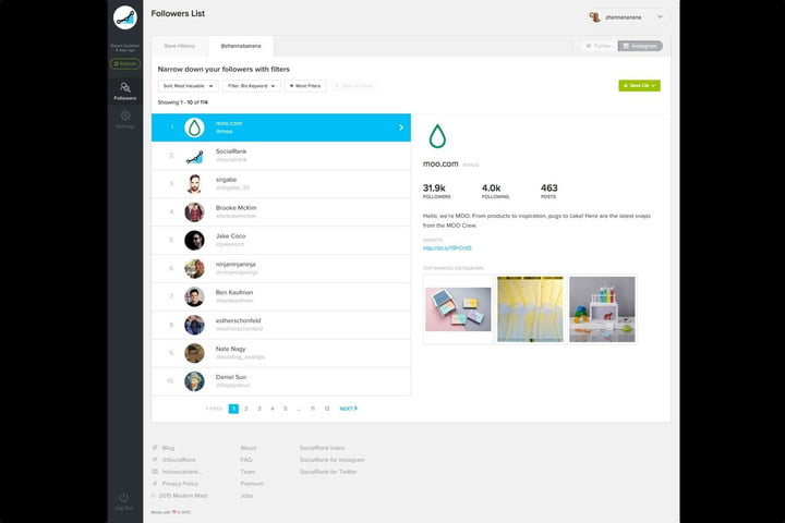 socialrank gives users info about instagram