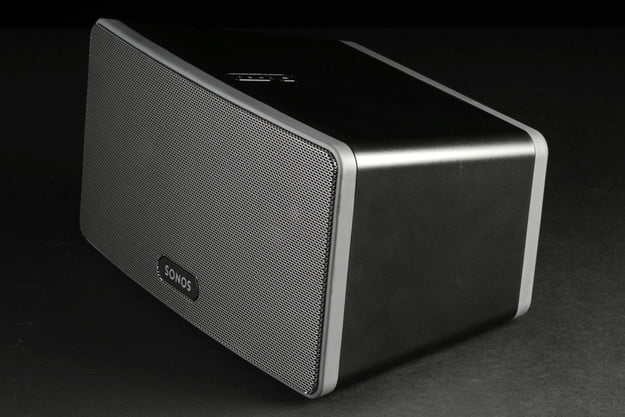Sonos Play3 wireless speaker front angle home theater