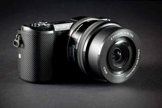 Sony Alpha A5000 front offset